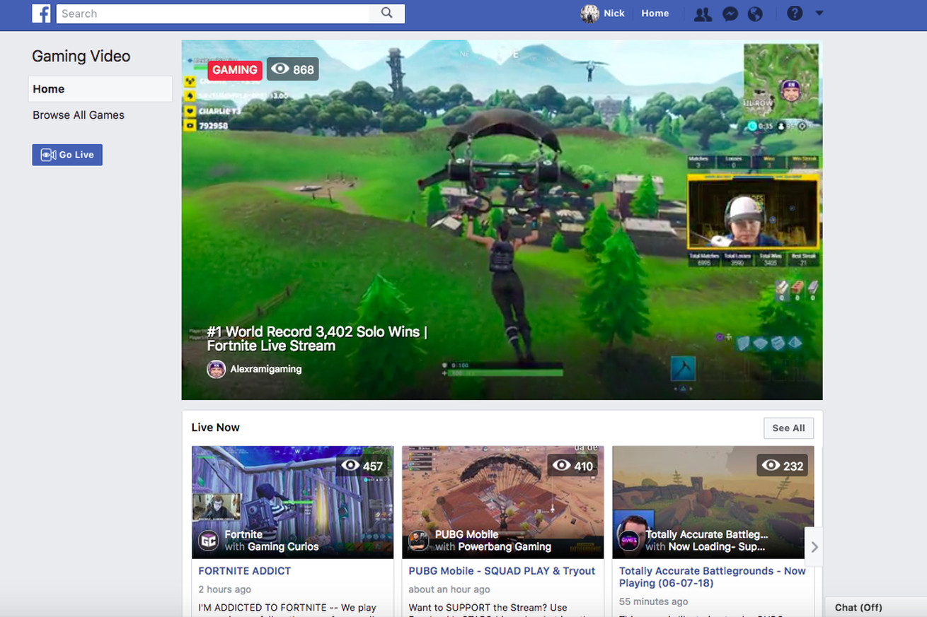 fb gg is facebook s game streaming hub for stealing fortnite streamers away from twitch