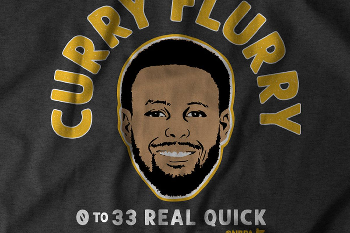 """BreakingT presents """"Curry Flurry"""" shirt to celebrate his explosion"""