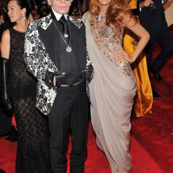 Karl Lagerfeld and Blake Lively. What do you think they talk about?