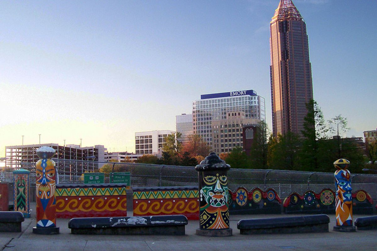 The downtown Atlanta folk art installations in the more bedraggled days of 2011.
