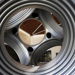 Portions of Tracy Hall Science Center are seen through holes in a diamond press at Weber State University in Ogden on Friday, Aug. 19, 2016. The new building uses geothermal heating and cooling, window placement for daylighting, and LED lighting to save energy. It opens Wednesday, Aug. 24. 2016.