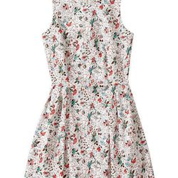 """Floral Sateen Dress, <a href=""""http://www.gap.com/browse/product.do?cid=1004478&vid=1&pid=941955002"""">Gap</a>, $69.95"""