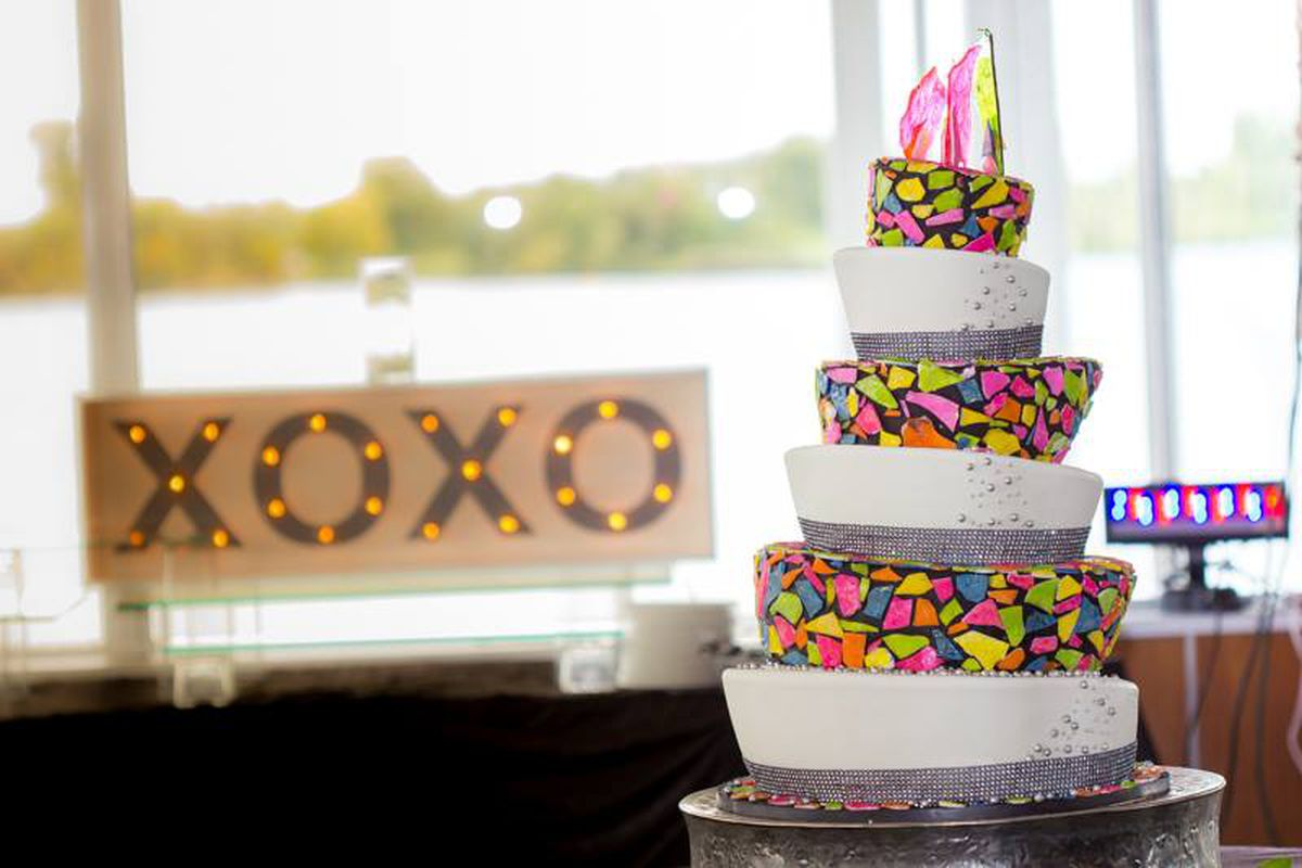 colorful wedding cake design