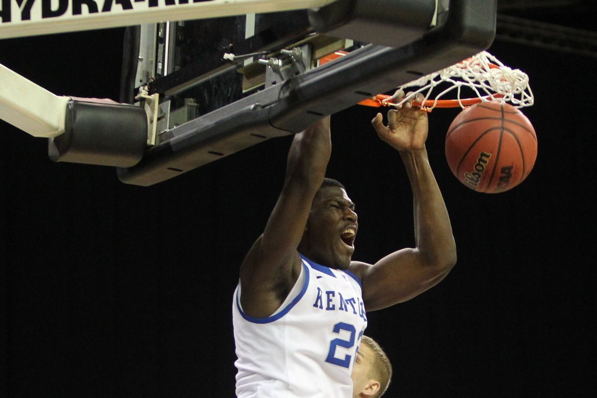 We could see a lot of this from Alex Poythress tonight.