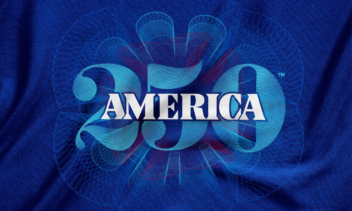Landor & Fitch created the logo for America's 250th celebration of the signing of the Declaration of Independence.