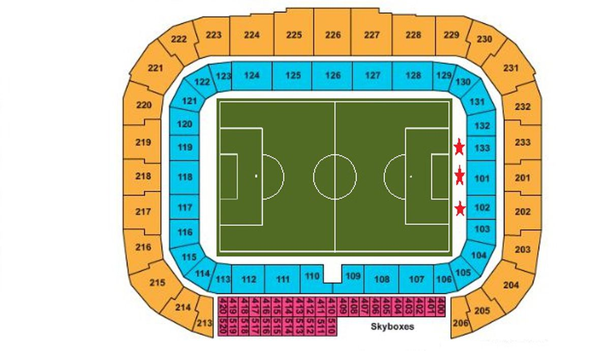 Red bull arena seating guide the south ward once a metro