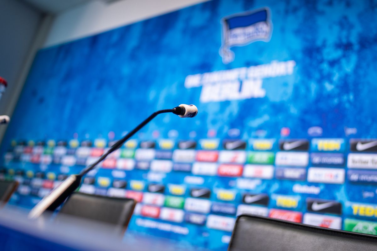 Hertha BSC press conference