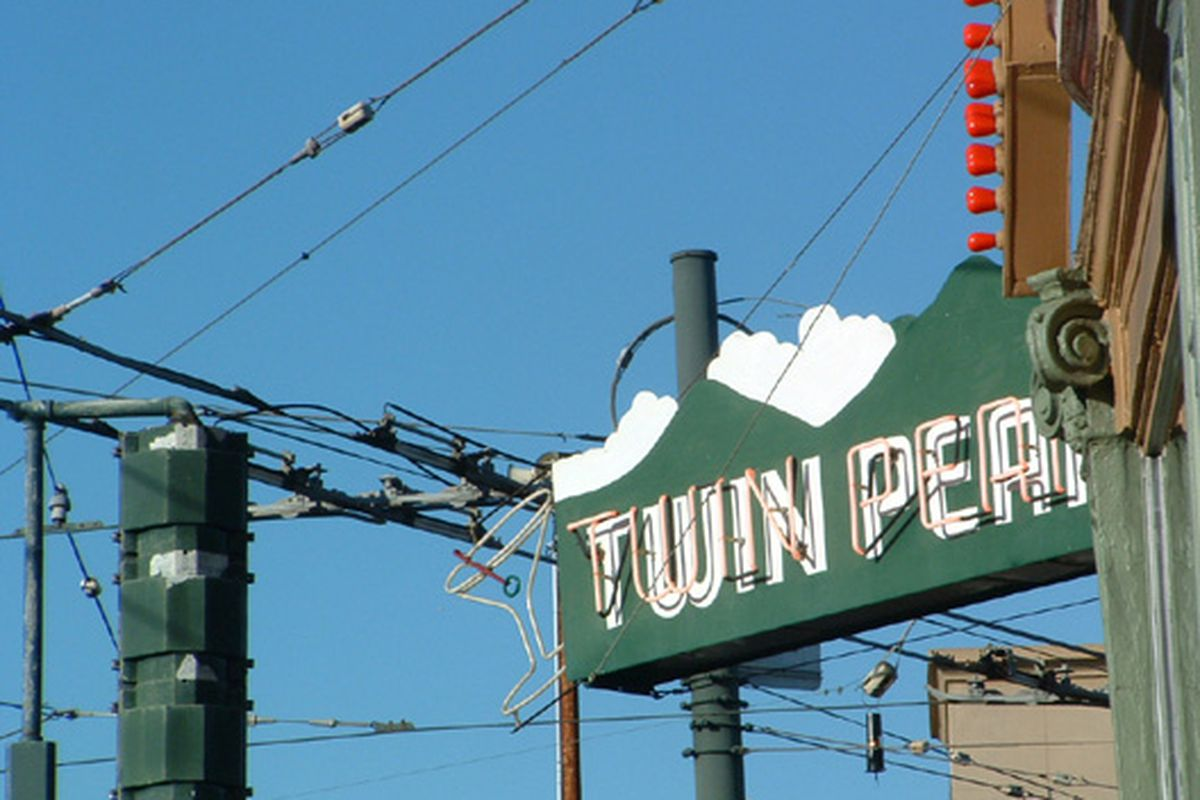 Signage at Twin Peaks in the Castro.