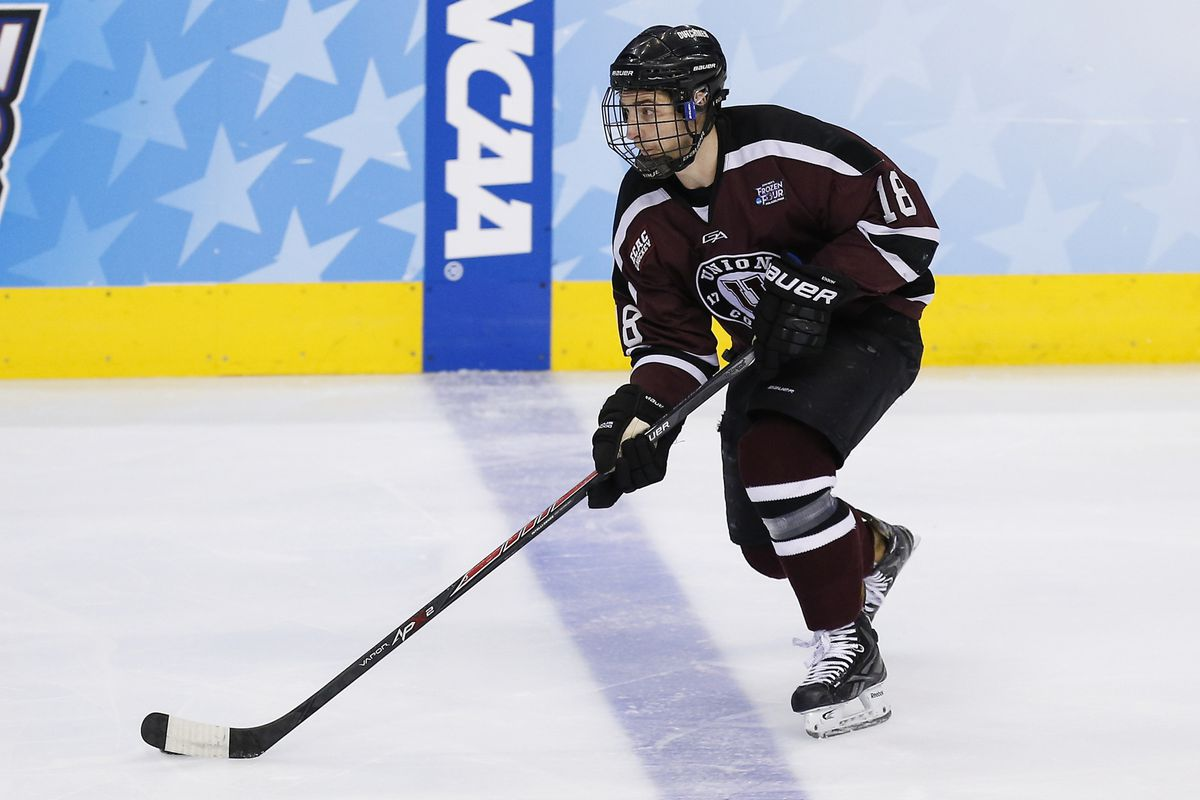Union senior Max Novak had a goal and an assist in his return to the lineup on Friday.