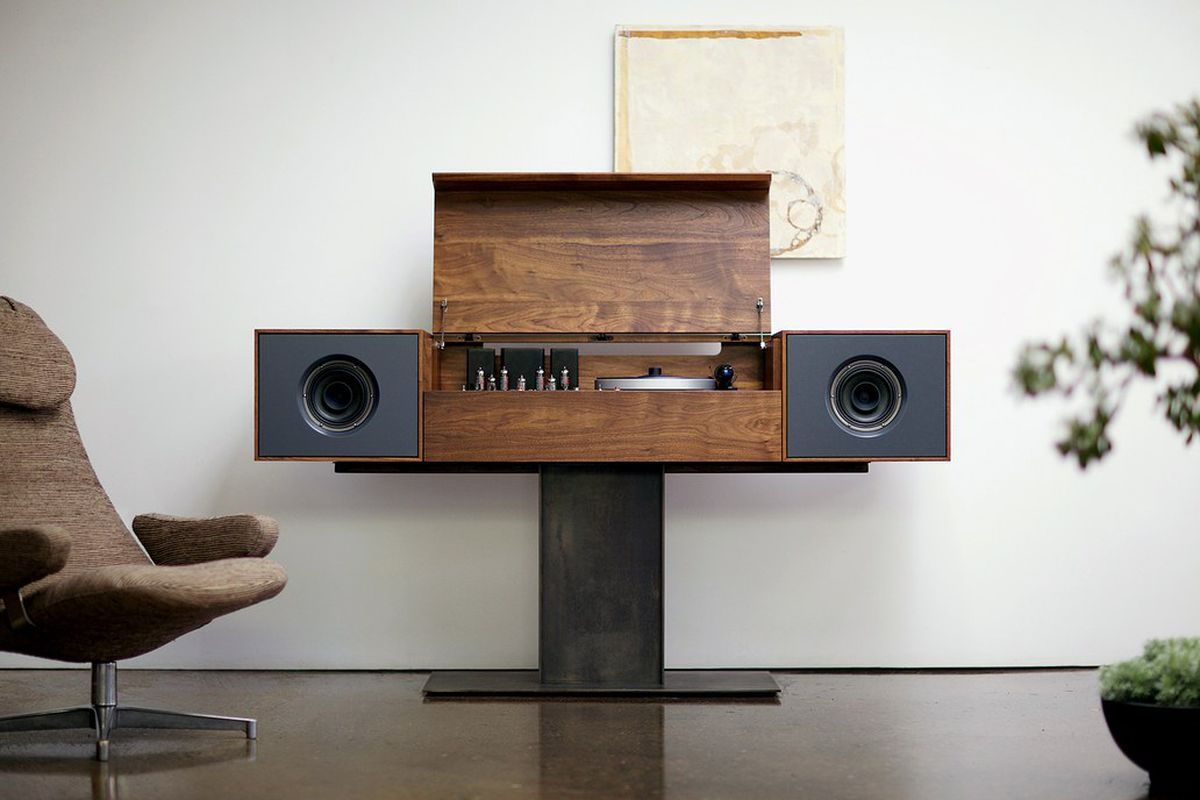 tech furniture. Today\u0027s Furniture Designers Are Putting A New Spin On The All-in-one Stereo  Console. Wired Rated Modern Record Console By Symbol Audio, Shown Here, Tech I