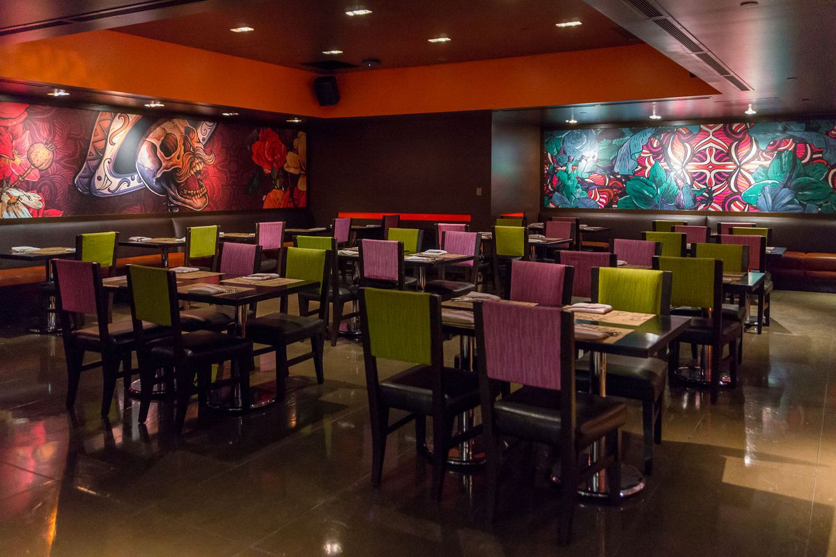 The private dining room at Diablo's Cantina
