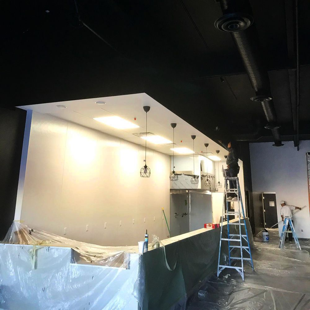 Painting and construction continues on the interior of the Berlin street food restaurant Wolf Down, coming soon to Chinatown.