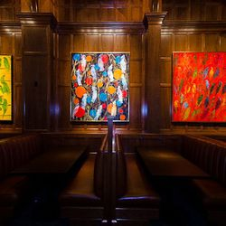 The Hamilton commissioned these paintings from artist Hunt Slonem.