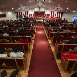 Rev. France Davis delivers a sermon at Calvary Baptist Church in Salt Lake City on Sunday, Dec. 22, 2019. Rev.Davis is planning to retire at the end of the year after having been pastor of the church since 1974.