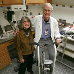 Doctors Alan Light and Kathleen Light from the Anesthesiology Department at the University of Utah have discovered a way to definitively diagnose someone with chronic fatigue syndrome Friday, May 16, 2014.