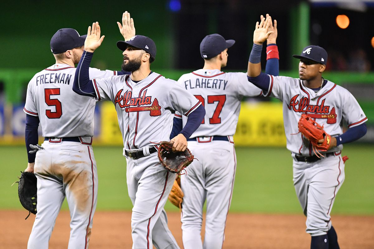 National League All Star Roster 2018 2 Braves Voted To Starting Lineup Sbnation Com