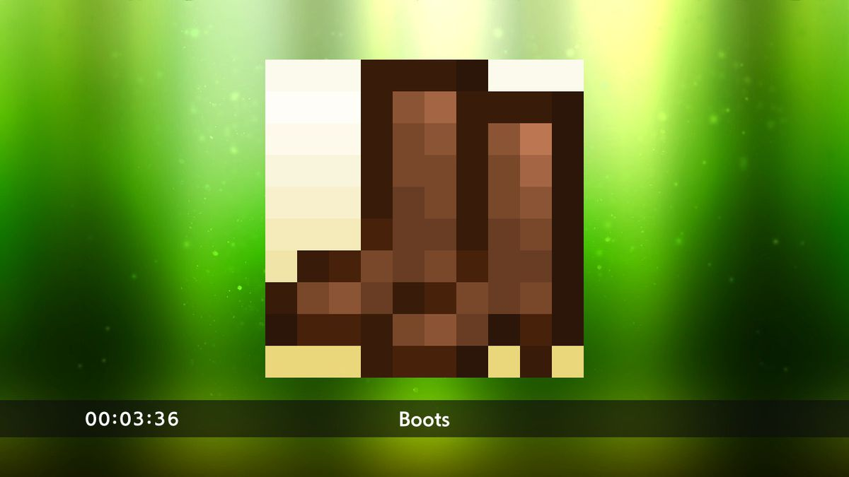 Boots puzzle from Picross S3