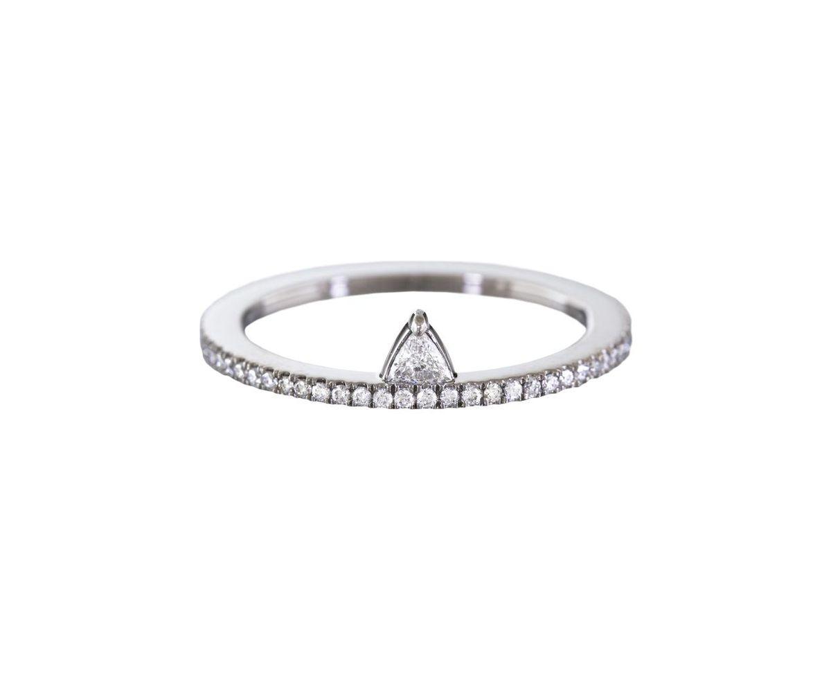 Eva Fehren diamond and platinum ring