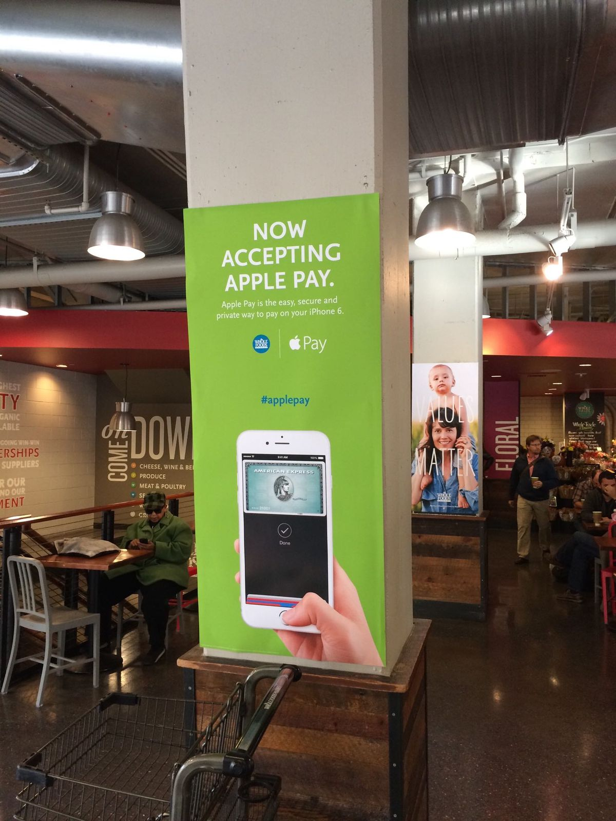 Apple Pay promotion at Whole Foods