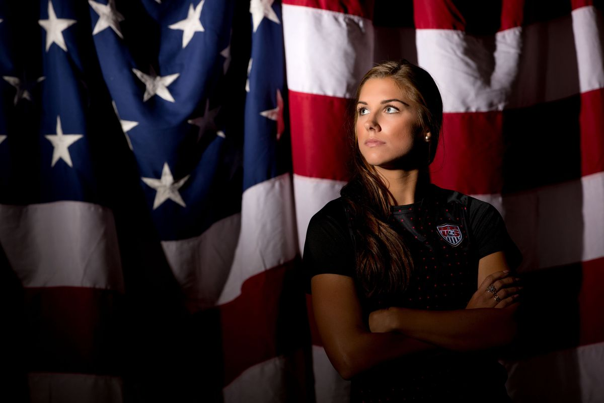 If you think we do intentionally put Alex Morgan's pictures up as often as possible, you would be right.