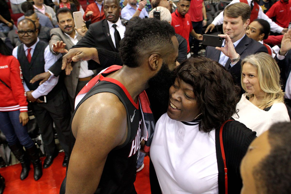 James Harden Is Now Represented By His Mom The Dream Shake