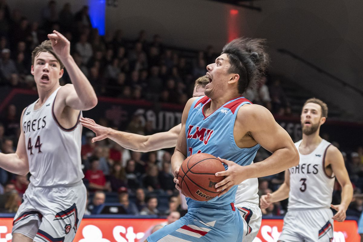 COLLEGE BASKETBALL: FEB 20 Loyola Marymount at St. Mary's