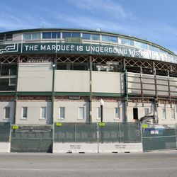 11:02 a.m. The front of the ballpark -