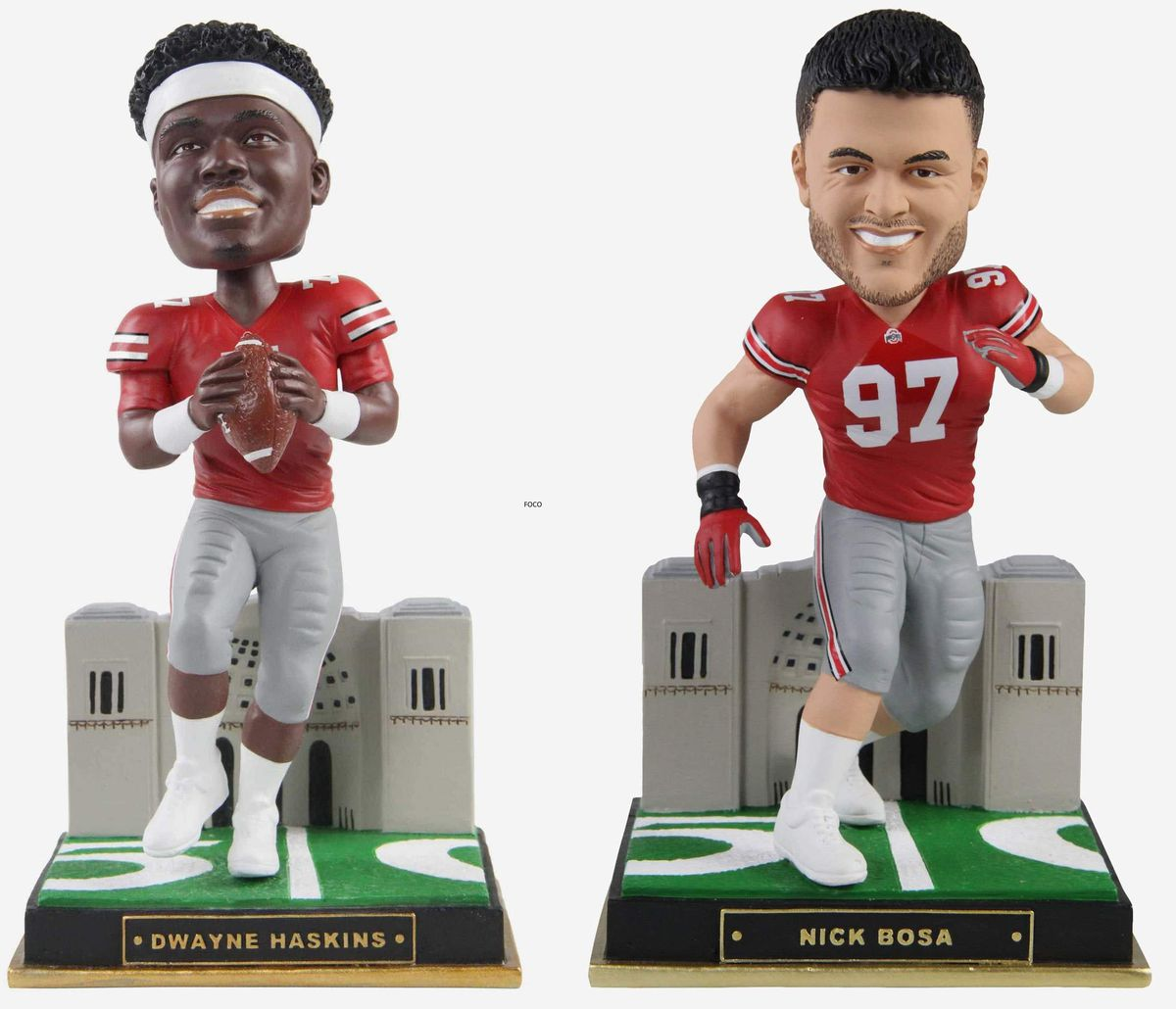 Dwayne Haskins, Nick Bosa Gates Series bobbleheads released by FOCO