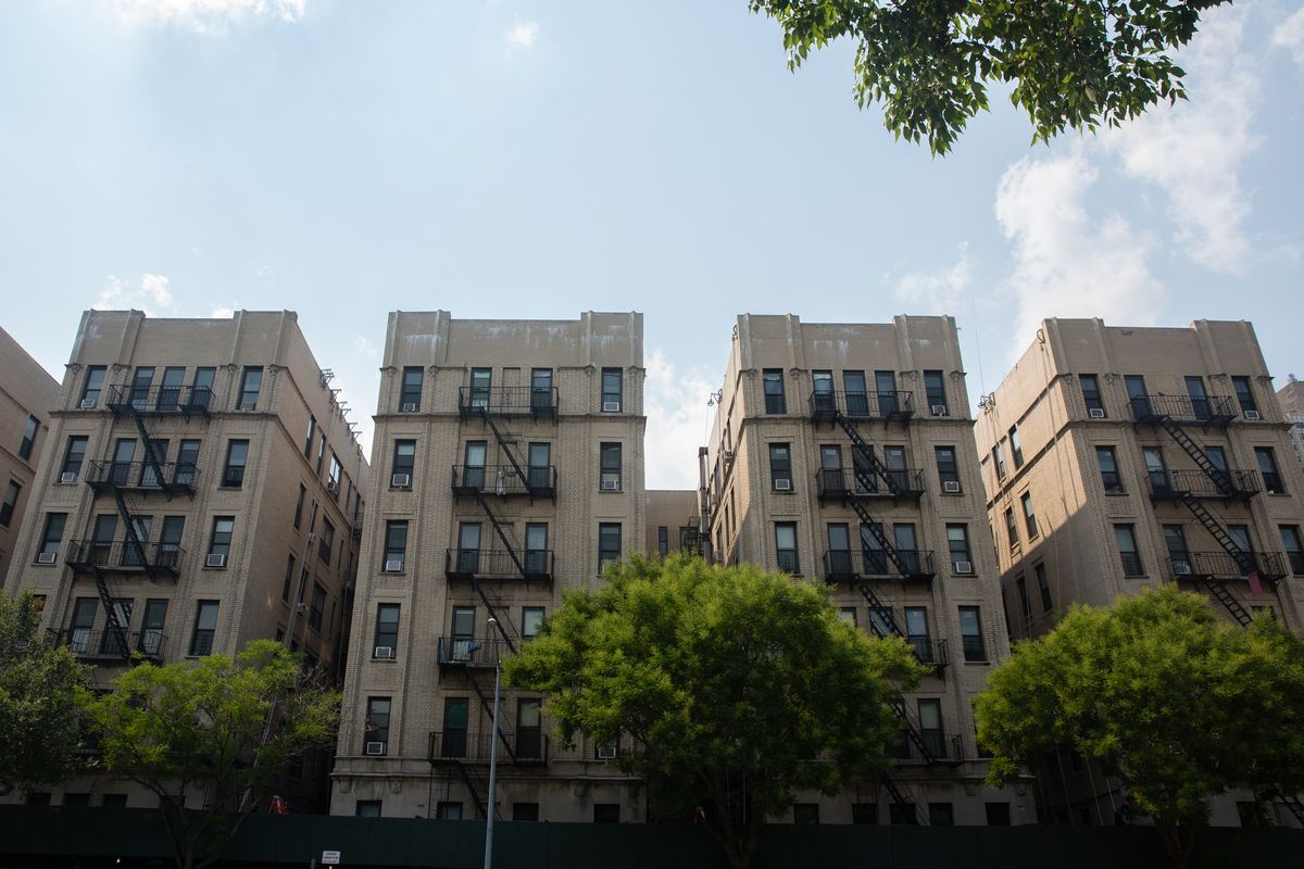 A private company maintains a Washington Heights NYCHA building on West 177th Street as part of the city's RAD program, July 7, 2021.