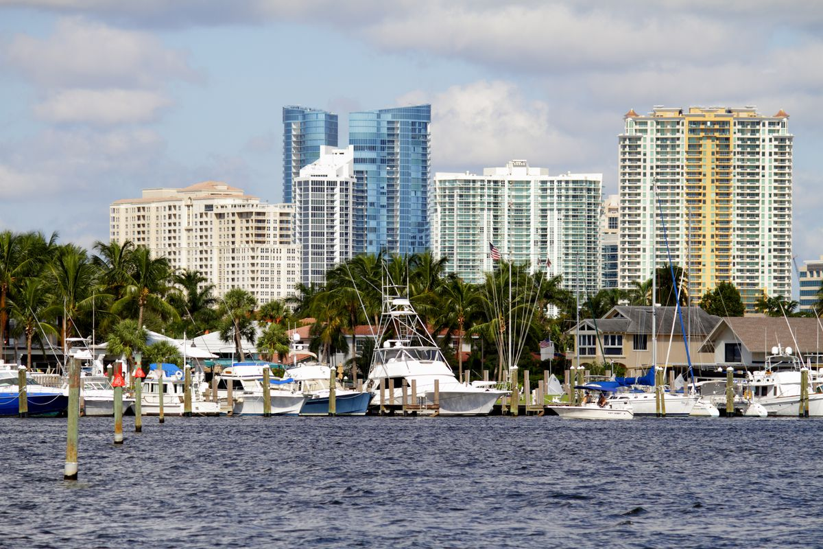 The marina on the Intracoastal Waterway at Fort Lauderdale.