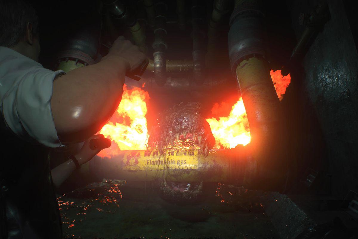 Resident Evil 2Leon [2nd] walkthrough Part 6: Sewer Entrance