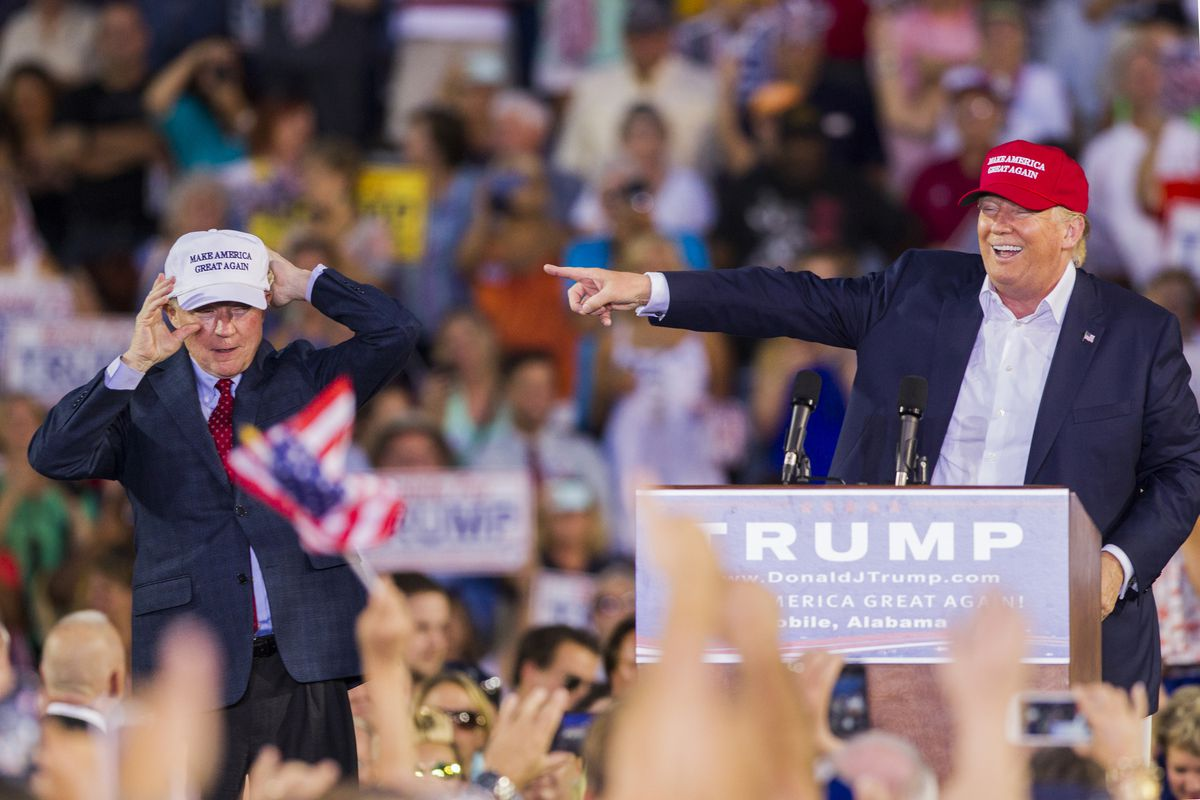 Donald Trump and Jeff Sessions on the campaign trail in 2015, back when they were friends.