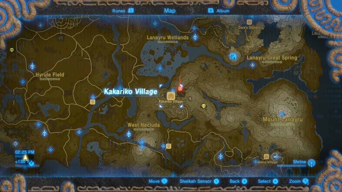 Breath of the wild great fairy locations