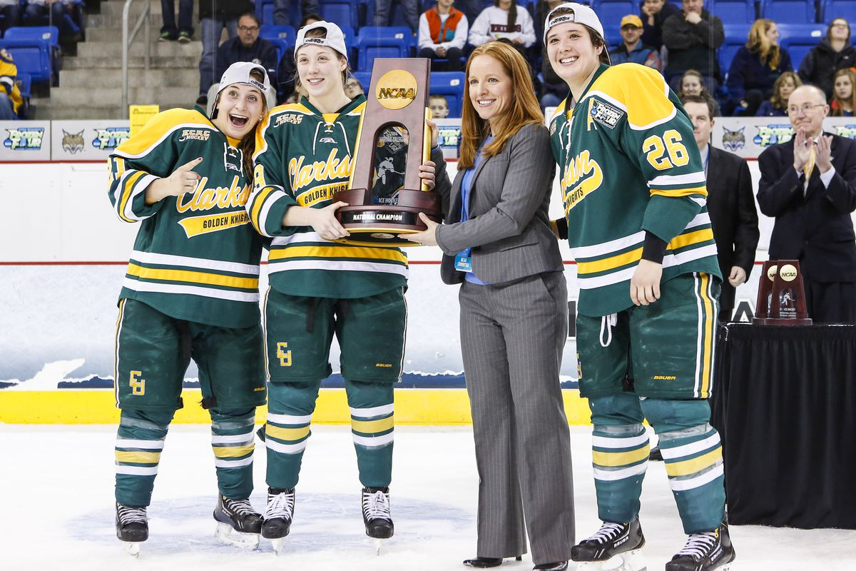 2014 winner Clarkson (above) will be trying to defend the title. The Golden Knights open on the road against Boston College.