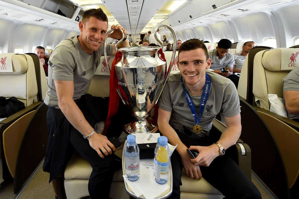 Liverpool Players Fly Home After Winning UEFA Champions League