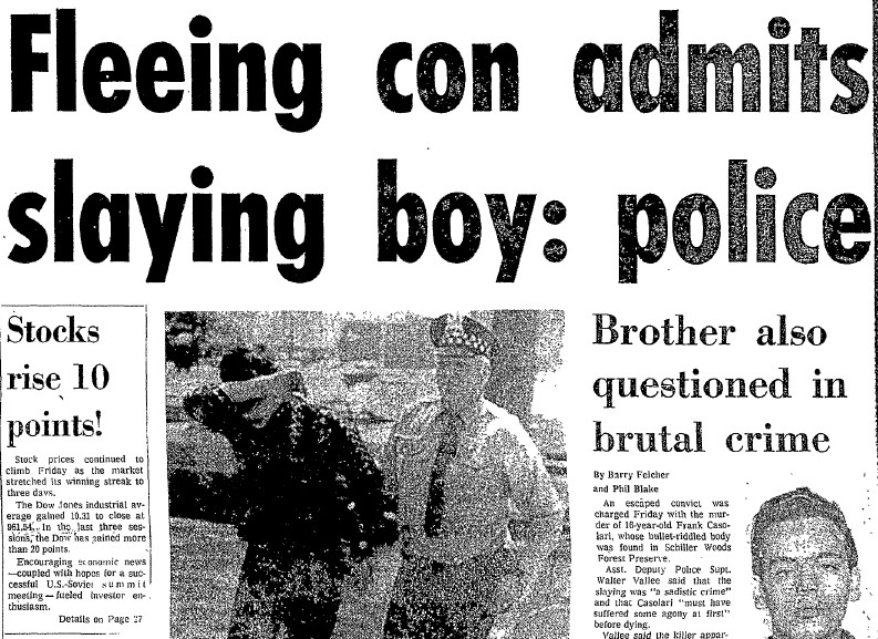 News of Ray Larsen's arrest was front-page news in 1972.