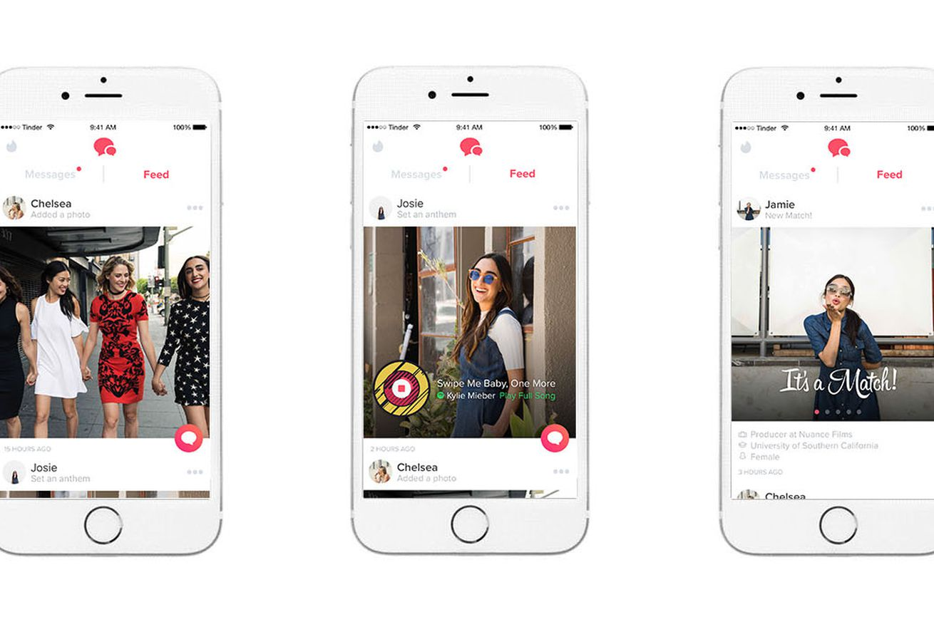 tinder s new chronological feed of recent match activity is rolling out to all users