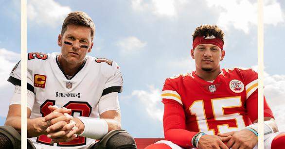 Tom Brady and Patrick Mahomes are both the cover athletes of 'Madden 22' thumbnail