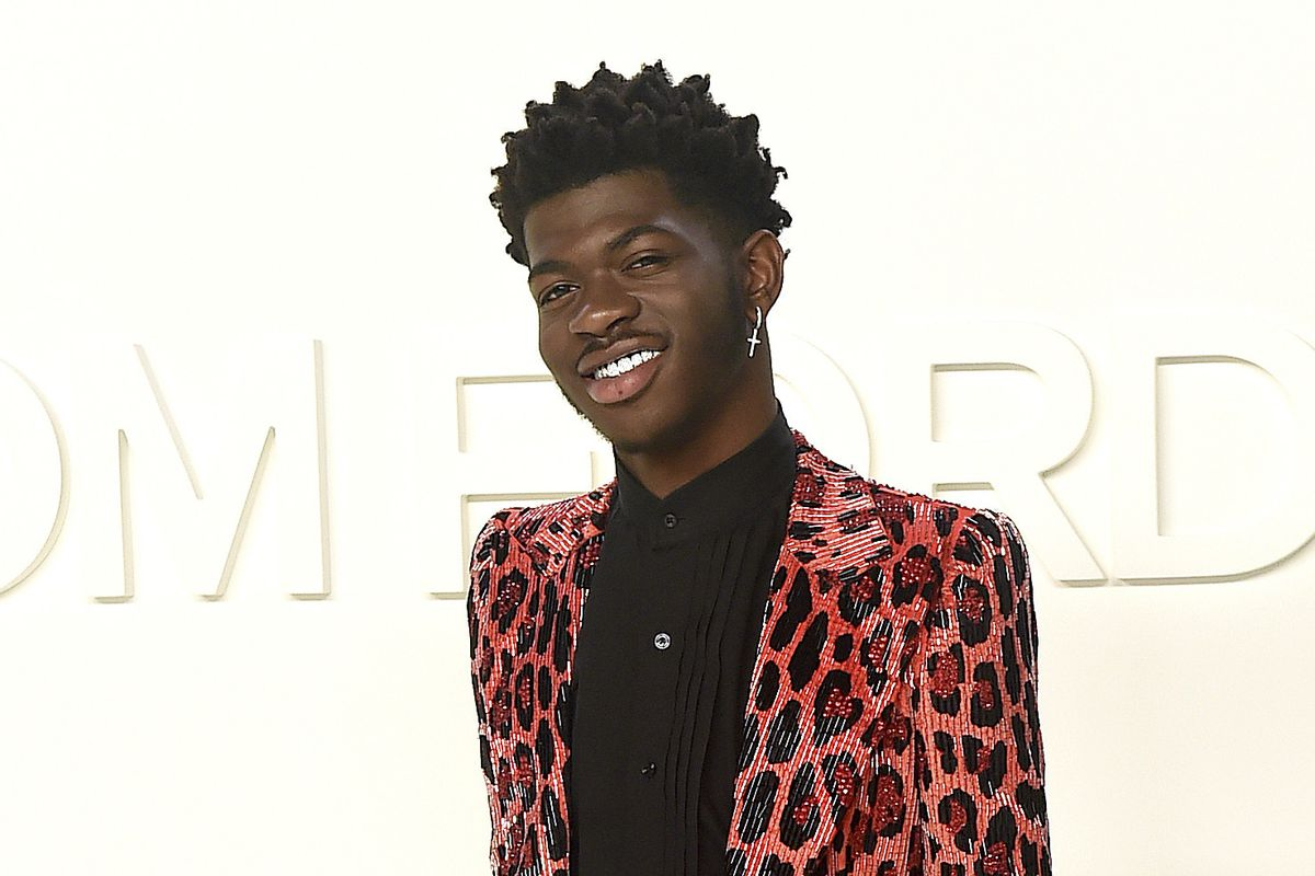 Lil Nas X attends the Tom Ford show at Milk Studios during NYFW Fall/Winter 2020 in Los Angeles.