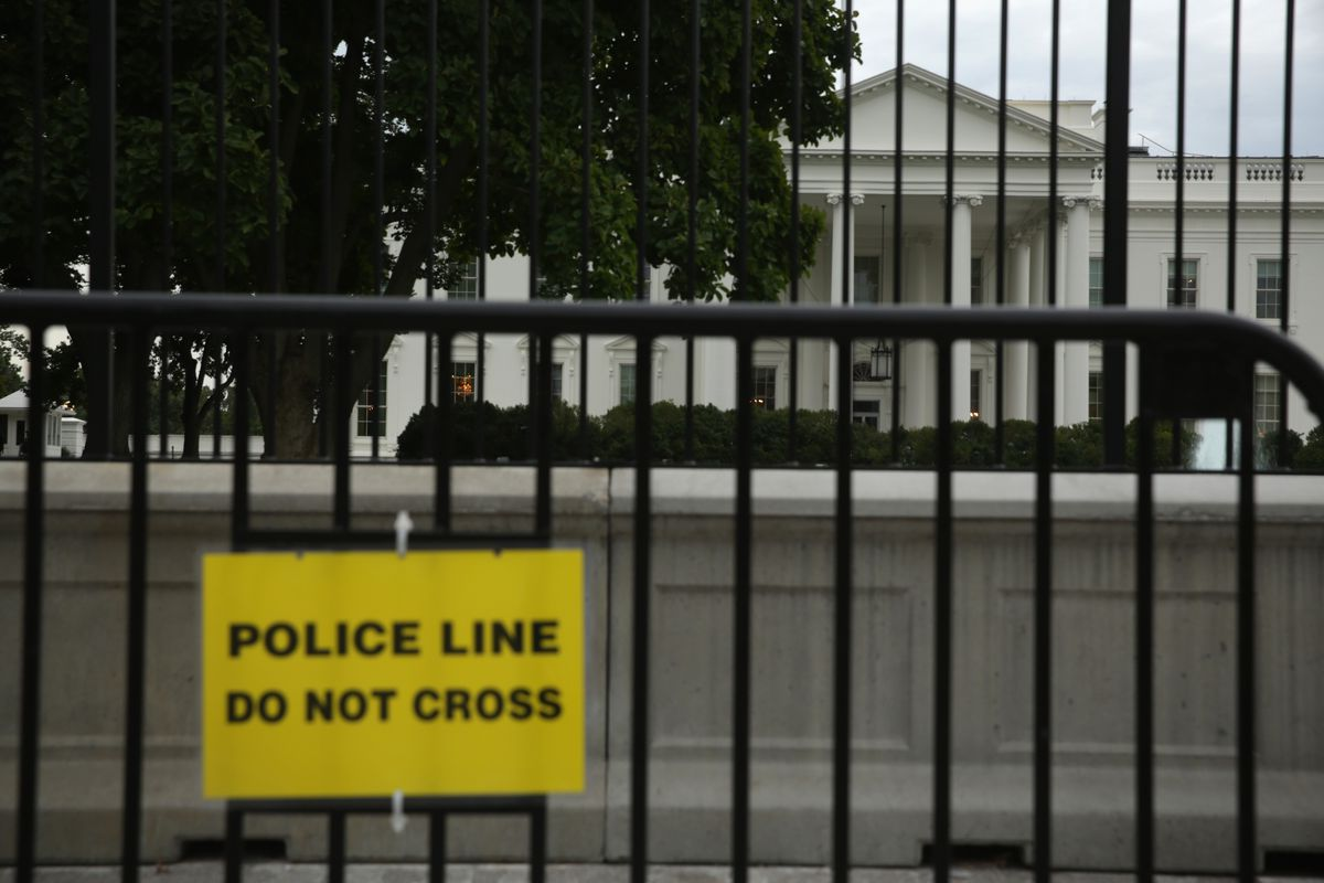 An additional security barrier outside the White House, in light of the Omar Gonzalez incident.