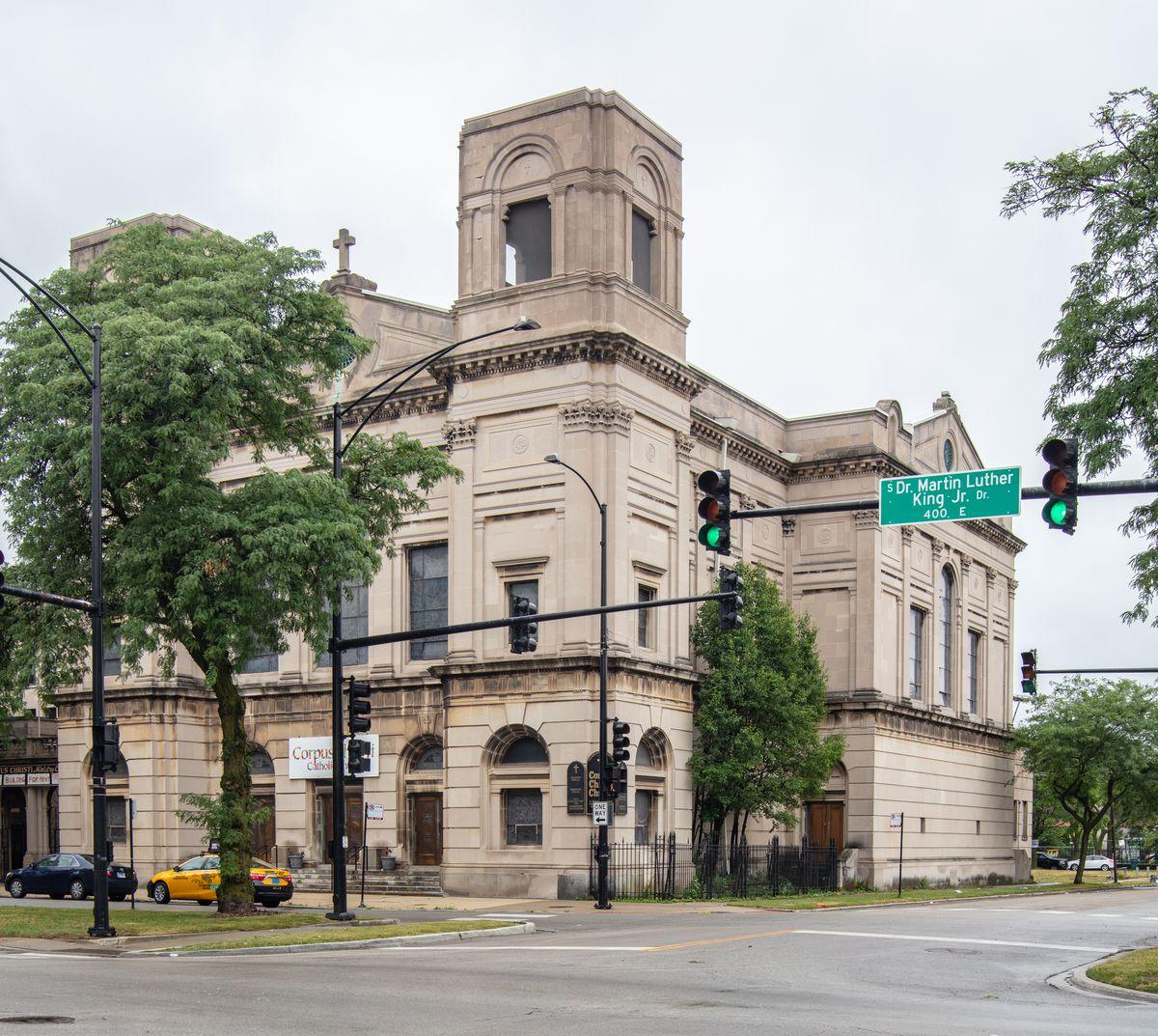 Corpus Christi Roman Catholic Church in Bronzeville.