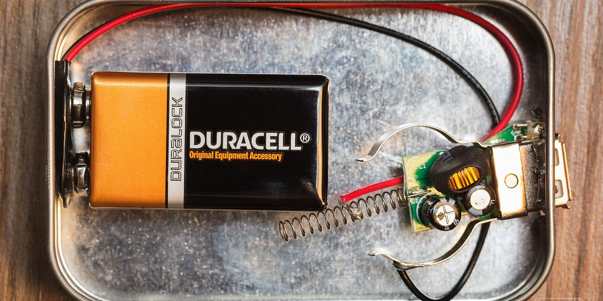 I made my own portable phone charger, and I didn't