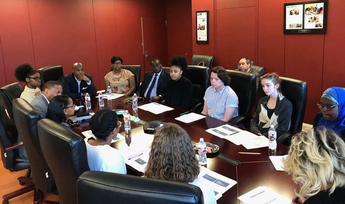 Superintendent Dorsey Hopson met with student leaders from Shelby County Schools and other Memphis-area schools to discuss their planned walkout.