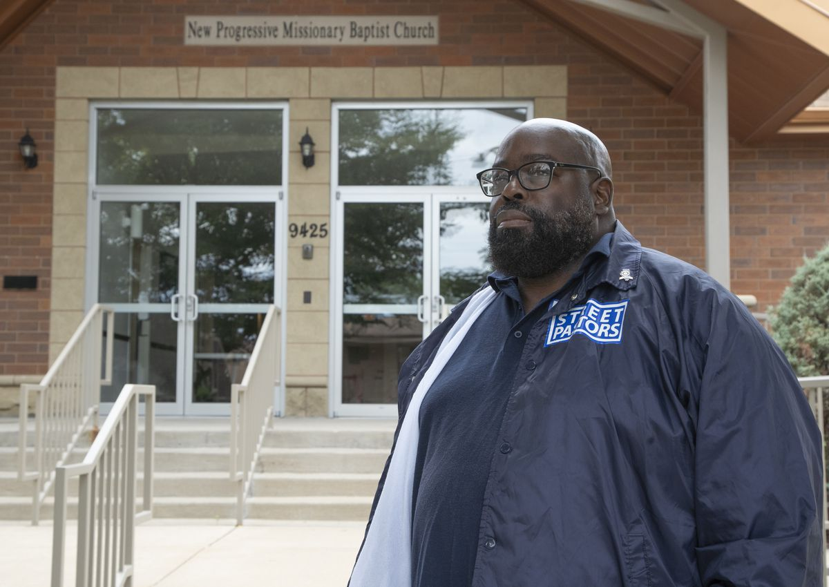 Pastor Donovan Price outside ofNew Progressive Missionary Baptist Church.