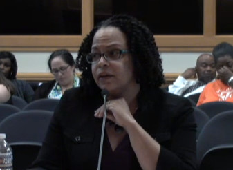Achievement School District Superintendent Malika Anderson speaks to state lawmakers during a summer session about the future of the state-run district.