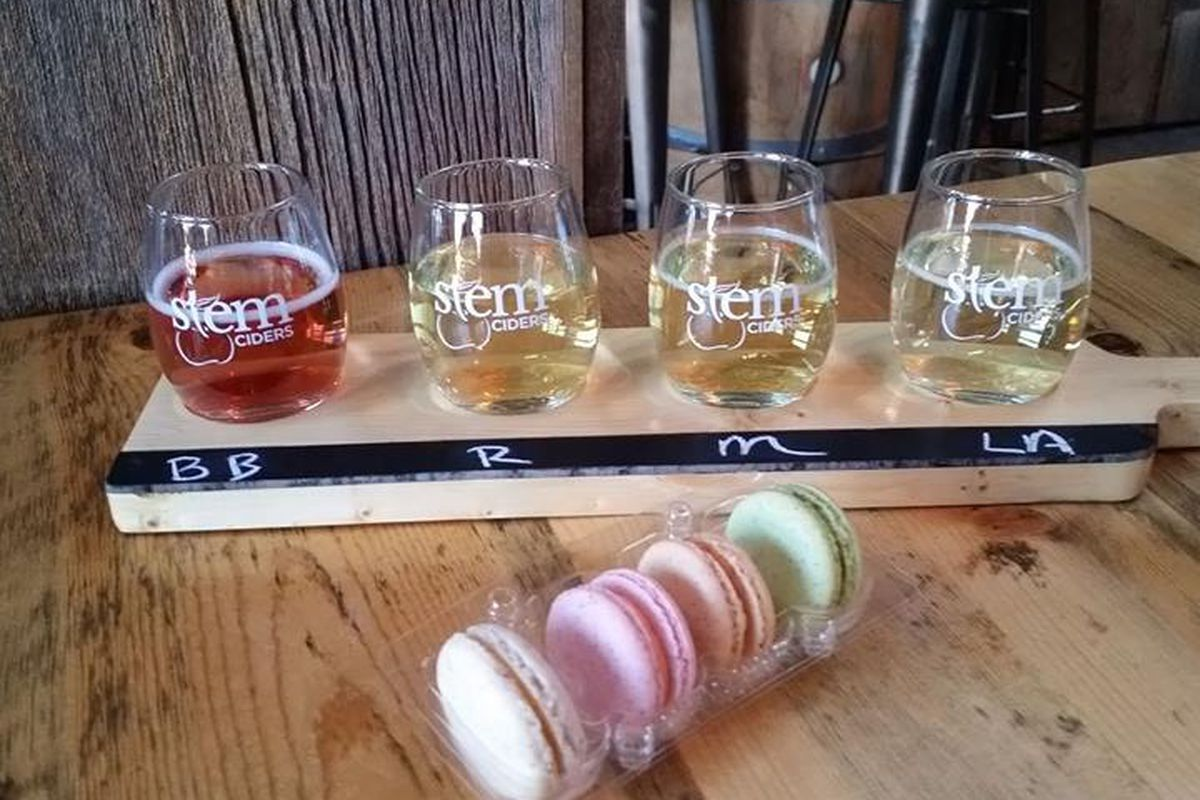 Craft cider and macaron pairing at Stem