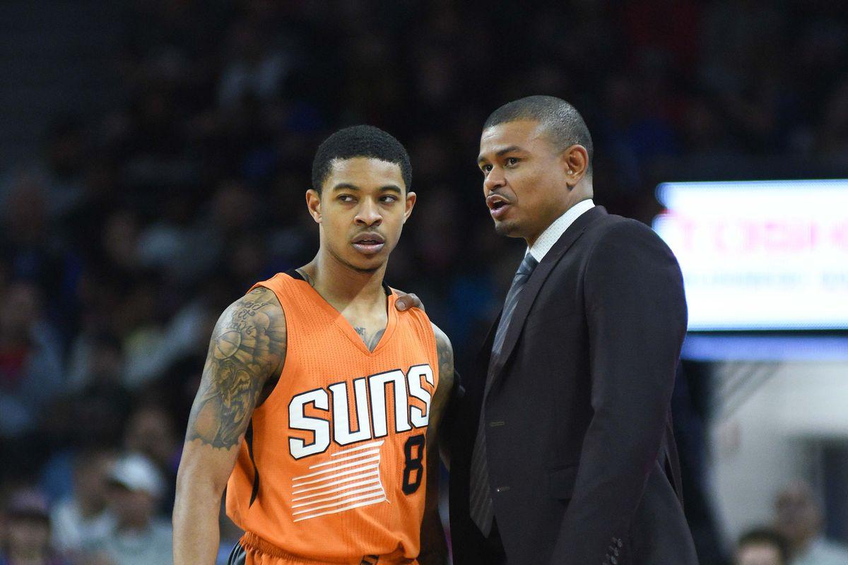 NBA: Phoenix Suns at Detroit Pistons