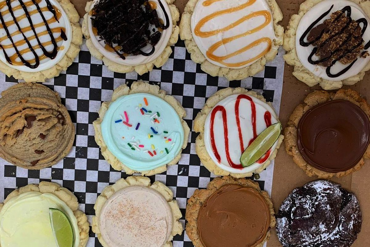 A sampling of the 21 different flavors sugar cookies available at Twisted Sugar.