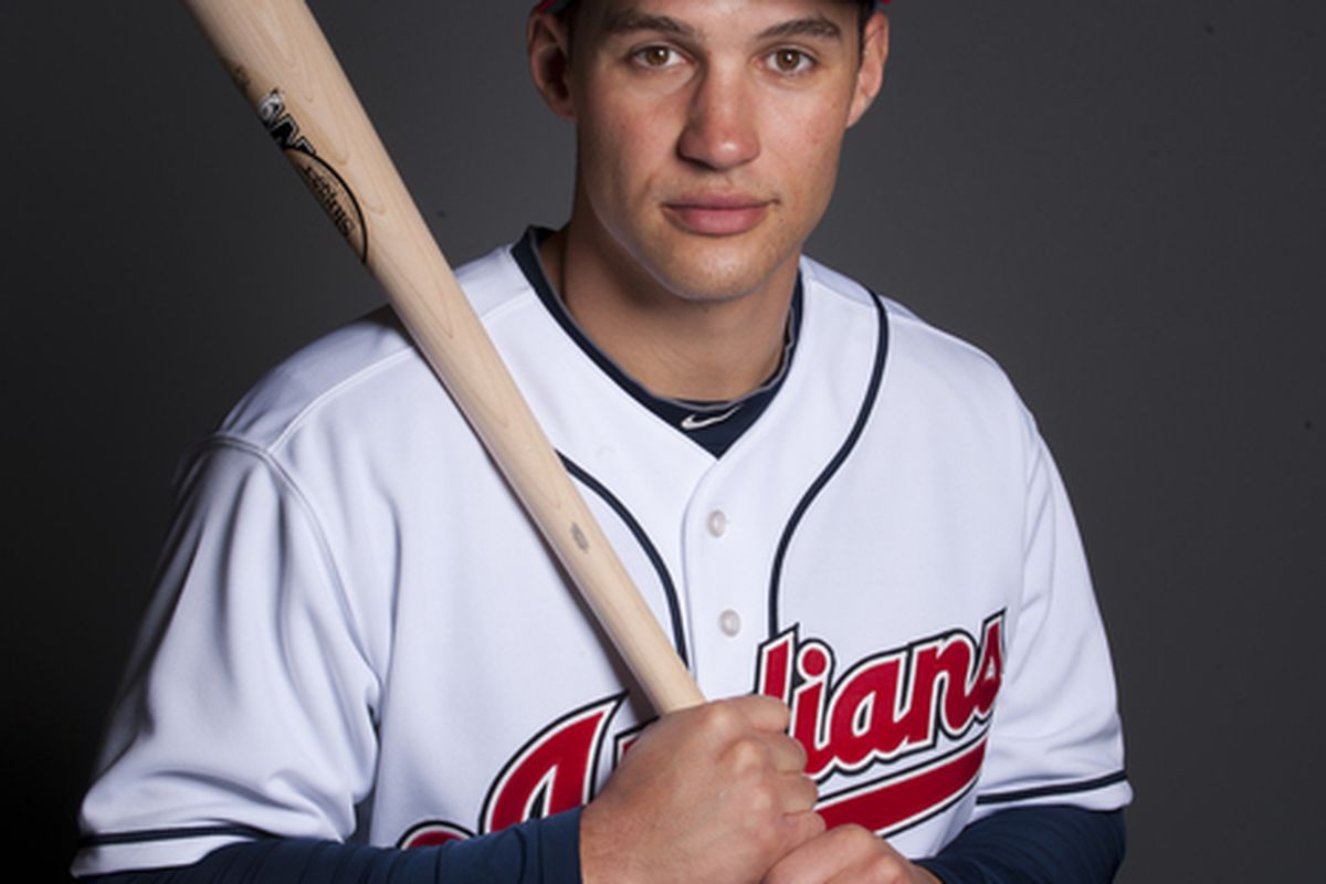 GOODYEAR AZ - FEBRUARY 22: Grady Sizemore #24 of the Cleveland Indians poses during their photo day at the Cleveland Indians Spring Training Complex on February 22 2011 in Goodyear ,Arizona. (Photo by Rob Tringali/Getty Images)
