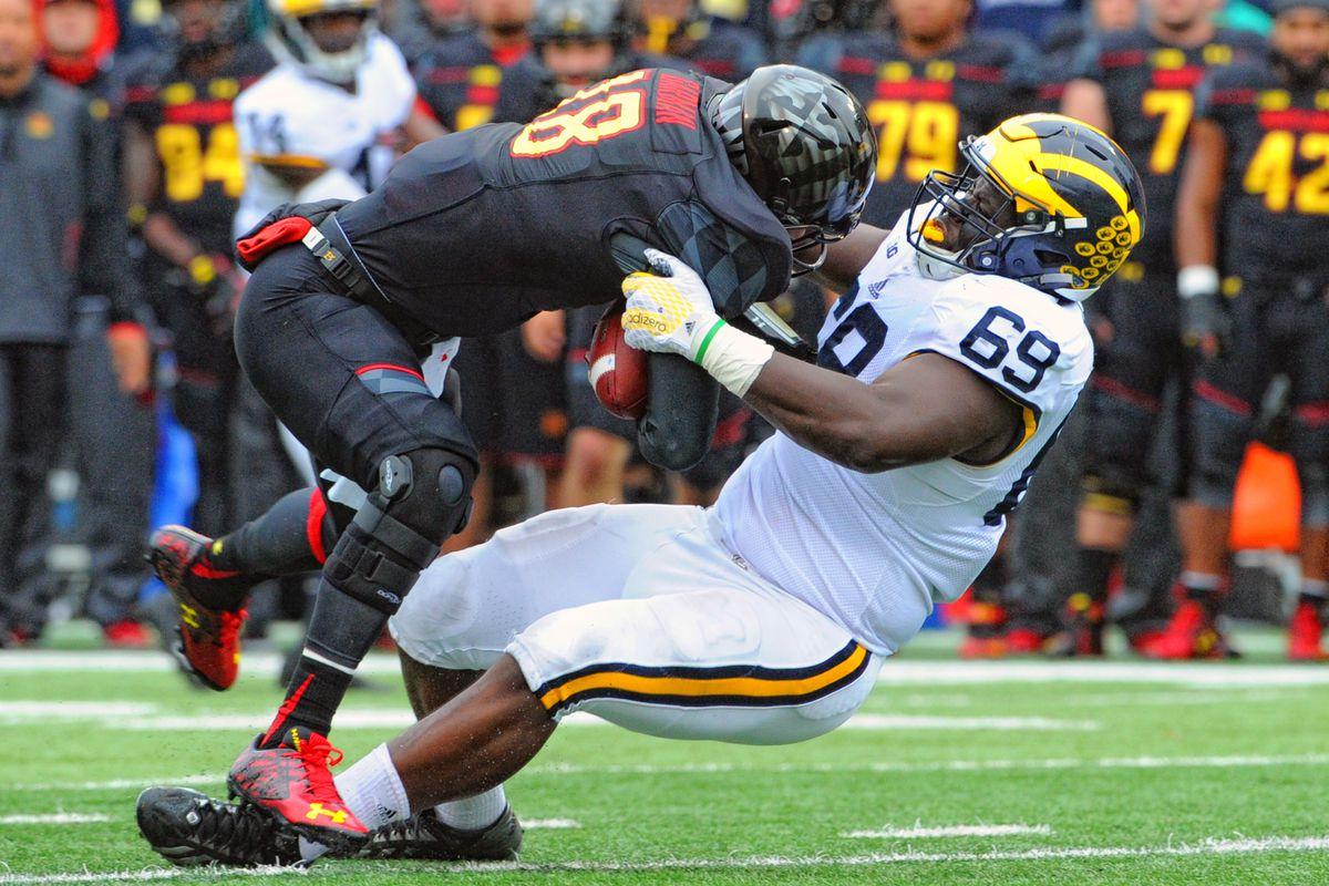 NCAA FOOTBALL: OCT 03 Michigan at Maryland